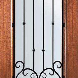 Slab Single Door 80 Wood Mahogany Valencia 3 4 Lite
