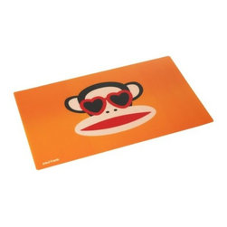 Paul Frank - PAUL FRANK Placemat, Orange - Our colourful  happy monkey placemat in orange from Paul Frank will brighten up any table. This placemat is perfect for all age groups to eat their dinner, because of it's funny design alternately they can also be used in your childrens room as a protective surface for writing or drawing.