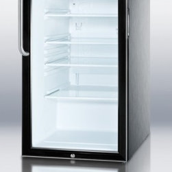 Summit - SCR500BLCSS 4.1 cu. ft. Glass Door Refrigerator With Automatic Defrost  Adjustab - SUMMIT SCR500BLBI Series features auto defrost glass door refrigerators designed for built-in use in any 20 wide space