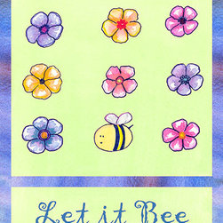 Oh How Cute Kids by Serena Bowman - Let it Bee, Ready To Hang Canvas Kid's Wall Decor, 11 X 14 - Each kid is unique in his/her own way, so why shouldn't their wall decor be as well! With our extensive selection of canvas wall art for kids, from princesses to spaceships, from cowboys to traveling girls, we'll help you find that perfect piece for your special one.  Or you can fill the entire room with our imaginative art; every canvas is part of a coordinated series, an easy way to provide a complete and unified look for any room.