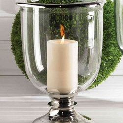 Balsam Hill 15.5 Inch Glass Candleholder - ENJOY THE WARM GLOW OF CANDLELIGHT