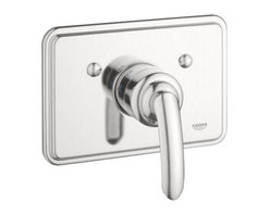 """Grohe - Grohe 19263EN0 Brushed Nickel Talia Talia Thermostatic Valve Trim - Product Features:Fully covered under Grohe s limited lifetime warrantyTrim constructed of brass - ensuring durability and providing aesthetic appealPremier finishing process - finishes will resist rusting and corrosion through every day useGrohe faucets are exclusively engineered in GermanyThe perfect synthesis of form and functionThermostatic valve cartridge with scald guardADA compliantSecure mounting assemblyAll hardware required for installation is includedRough-in valve not included - when adding to cart valve options will be presentedProduct Technologies / Benefits:Starlight Finish: Continuously improving over the last 70 years GroheÂ's unique plating process has been refined to produce and immaculate shiny surface that is recognized as one of the best surface finishes the world over. Grohe plates sub layers of copper and/or nickel to ensure that a completely non-porous, immaculate surface awaits the chrome layer. This deep, even layered chrome surface creates a luminous and mirror like sheen.TurboStat: By increasing the sensitivity to the thermo element and restructuring the internal waterways, our thermostats react up to twice as fast to abrupt changes in water pressure, and are up to nine times more accurate than the leading competitors. The desired temperature is achieved in seconds and is maintained throughout the duration of your shower. The outstanding precision offered by the TurboStat technology also adds to your showers conservation of water.Valve Trim Specifications:Swinging temperature dial provides optimum controlPre-set safety stop with override capabilityEscutcheon (Trim Plate) Diameter: 8-11/16""""Rough-in valve sold separatelyDesigned for use with standard U.S. plumbing connec"""