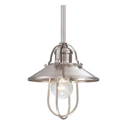 Minka Lavery - Minka Lavery 2250-84 Brushed Nickel 1 Light Pendant - Metal Shade