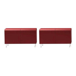Jasper Morrison Red Vitra Benches - A Pair - $7,400 Est. Retail - $2,300 on Chai -