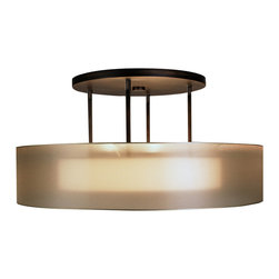 Fine Art Lamps - Quadralli Gold Pendant, 435940ST - Softly spotlight your modern style with this distinctive fixture. A hand-tailored ivory crepe shade is suspended within a shimmering screen of organza, resulting in a rich, warm glow.
