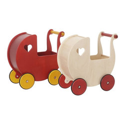 Haba - Haba Moover Dolls Pram - 1008035 - Shop for Dolls from Hayneedle.com! Your little darling is sure to fall in love with the Haba Moover Dolls Pram. This beautifully made doll carrier will encourage your child to look after their dolls and keep them safe. The wooden wheels and rubber tires allow for both indoor and outdoor use. Crafted from sustainable sources with today's environmentally conscious parent in mind this dolls' pram is designed for years of enjoyment. Available in a choice of finishes. Fully assembled.About HABAIn 1938 HABA began manufacturing finely polished wooden toys in Germany. Today these blocks and toys are still an important part of the HABA product line but the company has expanded to produce a wider variety of inventive playthings for inquisitive minds. From games and jewelry to tableware and rugs HABA products are known for innovative design and attention to detail. HABA toys support children's development and foster the spirit of discovery. HABA products undergo rigorous testing under European guidelines. They've won numerous Children's Game of the Year awards and look to continue their legacy of innovative exciting design for kids around the globe.
