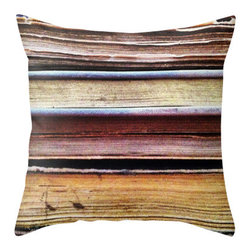 BACK to BASICS - Old Books Abstract Pillow Cover, 20x20 - Old Books Pillow Cover.