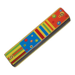 Sassafras - Harmonica, Stripe Design - Budding musicians can hone their musical skills early with these kid-sized musical instruments. Each instrument is sure to not only help develop a sense of musical timing, but is great fun as well!
