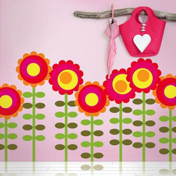 Wallcandy Arts Happy Flowers Decal - Wallcandy Arts Happy Flowers Decal