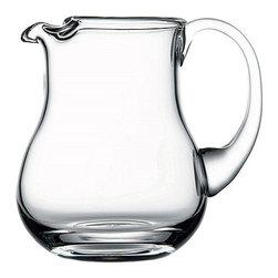 Hospitality Glass - 7H X 5T 33.25 oz Handmade Pitcher Notched 6 Ct - 33.25 oz Handmade Pitcher Notched
