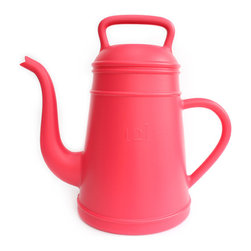 XALA - XALA Lungo Watering Can, Pink - Raising the old fashioned coffee pot to the status of modern cult houseware, Davy Groseman's design for Belgian label XALA reinterprets the classic shape as a quirky, oversized version in a vibrant range of colors.