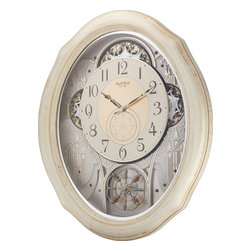 Rhythm - Ivory Cottage Magic Motion clock - The Ivory Cottage would make a wonderful addition to any home