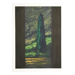 Richard Ballard, Cypress, Aquatint Etching - Artist:  Richard Ballard