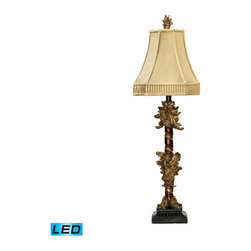 Dimond Lighting - Dimond Lighting Leaf Cluster Candlestick Table Lamp in Gold Leaf & Black - LED O - Table Lamp in Gold Leaf & Black - LED Offering Up To 800 Lumens belongs to Leaf Cluster Candlestick Collection by Dimond Lighting Lamp (1)