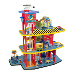 KidKraft - Deluxe Garage Set by Kidkraft - Our Deluxe Garage Set is loaded with fun, interactive features and will keep kids entertained for hours at a time. This exciting wooden set gives kids so many options, they'll never run out of new ways to play.