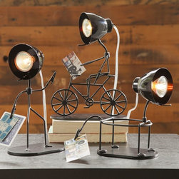 Grab-It Lights - I'm dying to get my hands on one of these for my little man's room. The bicycle light is my absolute favorite.