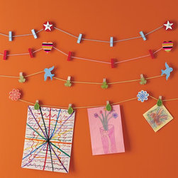 Work of Art Clips - Here are some cute clips to go with curtain wires.