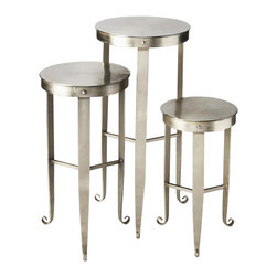 Butler - 3-Piece Nesting Plant Stand Set - Made from iron.