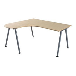 IKEA of Sweden/Olle Lundberg - GALANT Desk combination left - Desk combination left, birch veneer, silver color