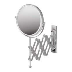"Mirror Pure 9"" X 9"" Mevedo Make Up Magnifying Mirror Wall Mount Revolving Scisso"
