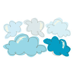 Pop & Lolli - Fabric Decals - Cotton Candy Clouds - Made from Cotton Candy and Angels Breath, the Pop & Lolli 5 super soft clouds are cheery, wonderful and kind. Please note this is for the Cotton Candy Clouds only the Pirate Boat and water as depicted in picture is sold separately. Use as a single design for simple fun, or combine various favorites to add some funky & spunky to any room for an interactive experience. \