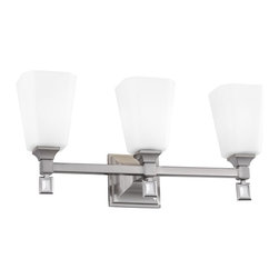 Murray Feiss - Murray Feiss Sophie 3 Bulb Brushed Steel Vanity Strip X-SB-30074SV - Murray Feiss Sophie 3 Bulb Brushed Steel Vanity Strip X-SB-30074SV
