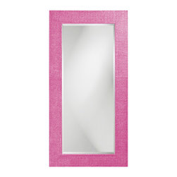 Howard Elliott - Howard Elliott Rectangle Lancelot Glossy Hot Pink Mirror - Rectangle Lancelot glossy hot pink mirror