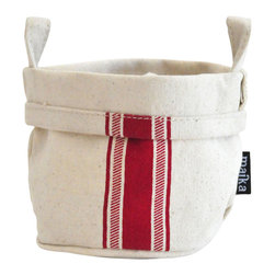 MAIKA - Recycled Canvas Bucket, Stripe Red, Small - AS SEEN ON THE TODAY SHOW