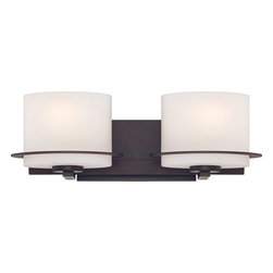 Nuvo Lighting - Nuvo Lighting 60-5002 Loren 2-Light Vanity Fixture with Oval Frosted Glass - Nuvo Lighting 60-5002 Loren 2-Light Vanity Fixture with Oval Frosted Glass