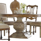 Hooker Furniture - Hooker Furniture Sanctuary 54in Round Pedestal Dining Table in Dune and Beach - Hooker Furniture - Dining Tables - 300275203 - Pursue serenity at home...Create your own personal sanctuary a special place where you can experience...comfort within.