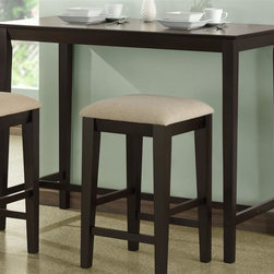 Monarch Specialties - Kitchen Counter Table - Straight legs and sleek lines. Casual contemporary appeal. Made from hardwoods and premium wood veneers. Cappuccino finish. 48 in. W x 24 in. D x 36 in. H (35 lbs.)This counter height kitchen table's rectangular shape makes it an exceptional fit for nearly any space, from compact kitchens to spacious dining rooms.