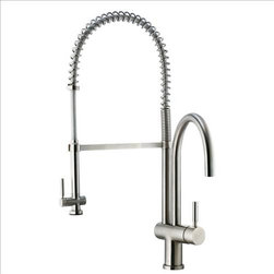 Vigo - VIGO VG02006ST Pull-Down Spray Kitchen Faucet - This stylish and durable faucet is sure to give your kitchen sink a new look
