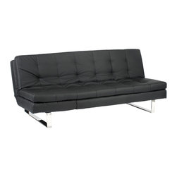 Euro Style - Euro Style Erik Sofa Bed X-KLB20050 - Wow. The sofa bed as we know it, just bit the dust. Take an elegant and commodious sofa over 6 feet wide and design it to readily convert to a lounge or a bed, and you've just discovered Erik. Equally comfortable for a conversation, a nap or an appointment with your therapist...relax, Erik has you covered.