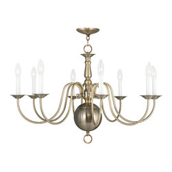 Livex Lighting - Livex Lighting-5007-01-Williamsburg - Eight Light Chandelier - Partially KD: Some Assembly Required.