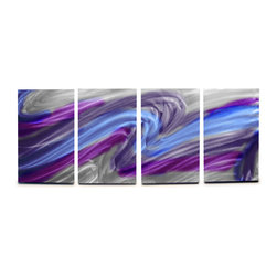 Miles Shay - Metal Wall Art Decor Abstract Contemporary Modern Sculpture- Aurora - This Abstract Metal Wall Art & Sculpture captures the interplay of the highlights and shadows and creates a new three dimensional sense of movement as your view it from different angles.