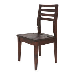 Chian Dining Chair, Set of 2, Dark Oak