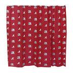 College Covers - NCAA Alabama Crimson Tide Shower Curtain Bathroom Decoration - Features:
