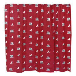 College Covers - NCAA Alabama Crimson Tide Shower Curtain Bathroom Decoration - Features: