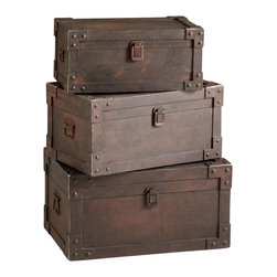 "Joshua Marshal - Raw Steel 14.75"" Yume Storage Trunk - Raw Steel 14.75"" Yume Storage Trunk"