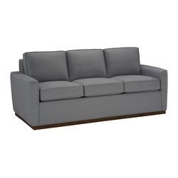 Lazar Industries - Harmony 3-Seater Sofa in Nato Chambray - Harmony 3-Seater Sofa by Lazar Industries presents a transitional frame, with stately elegance enhanced by compact track arms featuring welted detail.