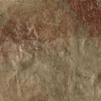 Vista - Vista contains soft greens, deep orange and cool beige metallic. This dynamic color combination will give any wall a new look! Sample may not fully capture all colors.