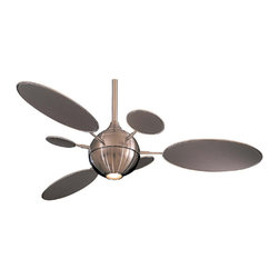Minka-Aire - Minka Aire Cirque Ceiling Fan in Brushed Nickel - F596-BN - The cutting edge design of the Minka Aire Cirque Ceiling Fan pushes boundaries, and rediscovers the artistic balance between art and function.