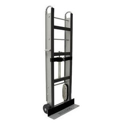"SANDHILL - BULLDOG / HT6015 Bulldog Hand Truck - � Unibody frame ;� One 3-ply 14ft x 2"" strap ;� 6"" x 2"" roller bearing ;� Cushion rubber stair crawler tread wheels ;� Padded with non-marking vinyl & protective felt ;� 1 self-aligning ratchet system ;with automatic strap recoil ;� Dim: 60""H x 17""W, 5"" x 24"" footplate ;� Load capacity: 500lbs"