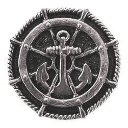 By the Shore - Ship's Wheel Knob in Brite Nickel