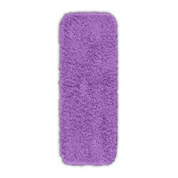 "Garland Rug - Bath Mat: Accent Rug: Jazz Purple 22"" x 60"" Bathroom - Shop for Flooring at The Home Depot. Liven up your bathroom with a Jazz Shag Bathroom Rug. These hip and fun rugs will fit easily into any bathroom decor. Jazz is made with 100% Nylon for superior softness and colorfastness. Proudly made in the USA."