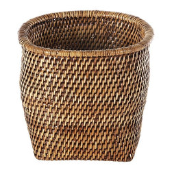 Eco Displayware - Round Rattan Planter in Brown - Earth friendly. 10 in. Dia. x 9 in. H (3.27 lbs.)These natural colored planter add warmth and charm.