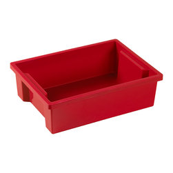 Ecr4kids - Ecr4Kids Classroom Rectangular Small Storage Organizer Plastic Bin Red 20 Pack - Store everything you need in this extra large storage binStorage made attactive and easy Use these extra-deep, large storage bins with our trolley and classroom storage units. NoteColors may vary and are subject to change without notice.