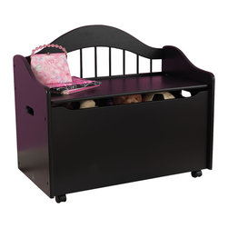 """KidKraft - Kidkraft Kids Room Toddler Gift Doll Organizer Play Toy Storage Chest Box Black - Our Limited Edition Toy Chest keeps rooms tidy with style. This chest would be a great addition to any kid's room. Dimension: 33""""Lx 18.5""""Wx 28.875""""H"""