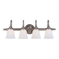 Savoy House Lighting - Savoy House Lighting 1062-4CH Brunswick Bath 4 Light Bathroom Vanity Lights in C - For a variety of Bathroom Spaces in Chrome Finish; *GL780 Glass Sold Separately