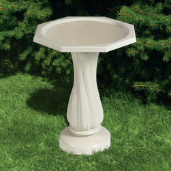 Allied Precision - Allied Precision Deluxe Bird Bath - ALLIEDPR290 - Shop for Garden Bird Baths from Hayneedle.com! The Allied Precision Deluxe Bird Bath makes your landscape bird-friendly. This bird bath is made of weather-resistant easy to clean plastic in a natural white color. It has a two-inch bowl depth with a gradual slope making it ideal for birds of all sizes. The pedestal has a handsome twist design.About Allied Precision IndustriesAllied Precision Industries Inc. specializes in manufacturing quality water heating products. Their product lines include stock tank de-icers heated pet bowls bird baths pond de-icers heated pet beds and more. Allied is located near Chicago in Elburn Ill.
